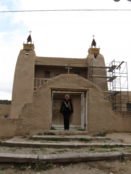San Jose Garcia Church in Las Trampas, New Mexico.  This historic Catholic Church was built by the Spanish in 1760.