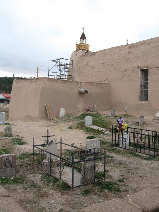 Churchyard next to San Jose de Gracia Church in Las Trampas, New Mexico