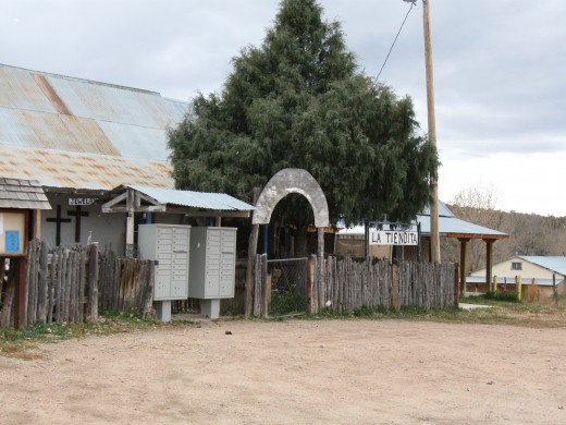 La Tenedita (small store) in historic village of Las Trampas, New Mexico