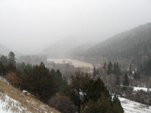 A dusting of snow along New Mexico's scenic High Road to Taos on a crisp November morning