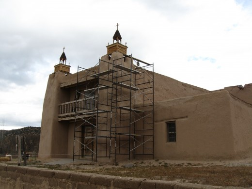 San Jose de Gracia Catholic Church in Las Trampas, New Mexico.  Built in 1760 and still in use today.