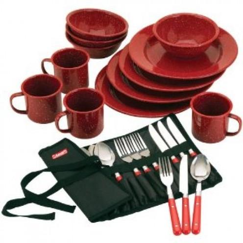 Coleman Speckled Enamelware Dining Kit