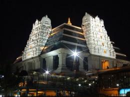 Iskcon Temple of Lord Krishna in Delhi - Night view