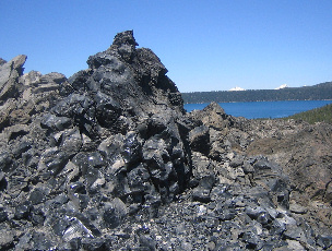 Newberry Obsidian pile