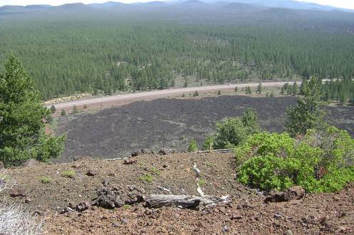 Public domain photo - view from Lava Butte of lava flow