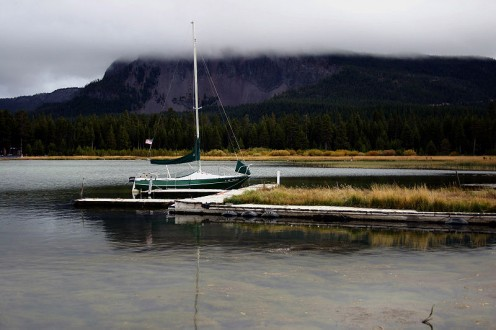 Public domain image - Paulina Lake Dock