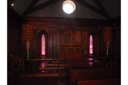 Notice the large plumes on either side of the alter. This represents the importance of the family resting here.
