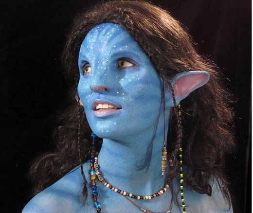 Avatar makeup and prosthesis on eBay