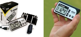 IZZO Swami 1500 Golf GPS System includes a belt clip, USB cable, quick-start instructions