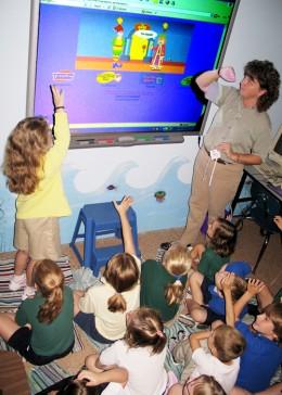 Teacher Using SmartBoard