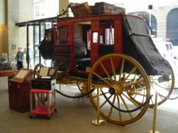 Old coach at Wells Fargo History Museum