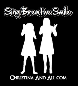 "Christina and Ali's T-Shirt Design W/ Their Slogan, ""Sing. Breathe. Smile"""