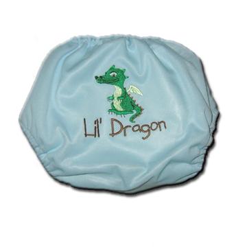 A Fussybutt embroidered Fuzzi Bunz pocket diaper