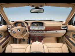 The stunning interior of the 750 series.