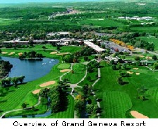 Aerial view of Grand Geneva Resort  - former Playboy Resort Lake Geneva Wisconsin