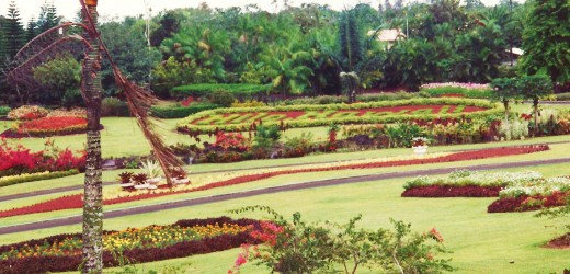 Landscaped grounds of the Nani Mau Gardens