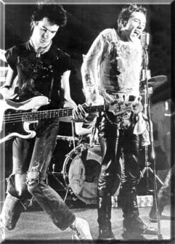 Sid Vicious (left) with Johnny Rotten