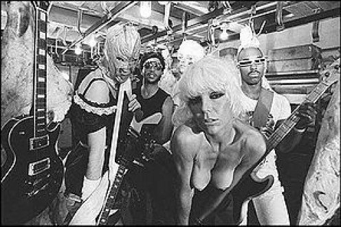 Wendy (right) and the Plasmatics