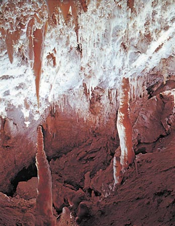 Inside Timpanogos Cave