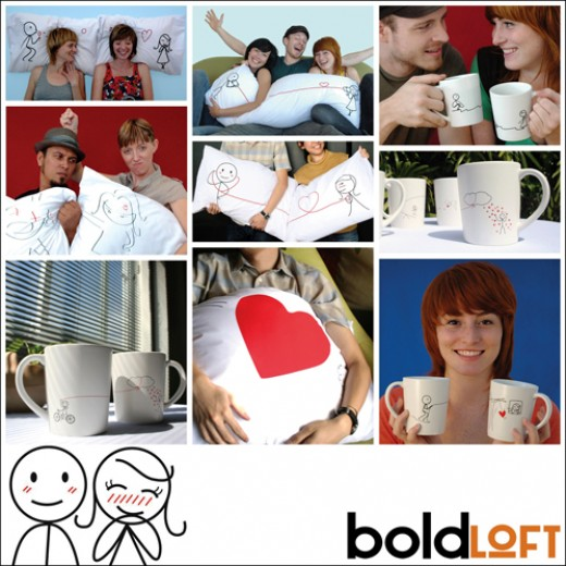 BoldLoft Couple Pillowcases, Coffee Mugs, & Couple T-Shirts
