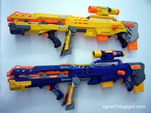 Nerf Raider and Longshot.