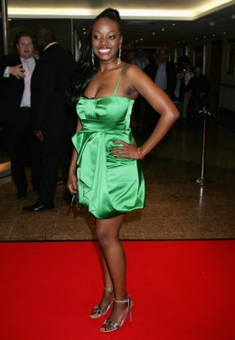 Makosi on the red carpet