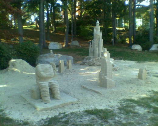 Sand Castle Sculpture by Sol LeWitt