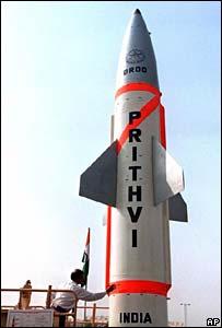Prithvi missile