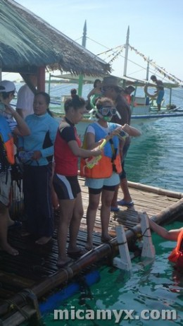 My friend Shena and Ada are ready to snorkel!