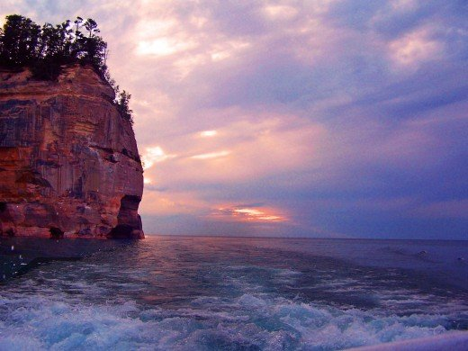 An evening cruise of Pictured Rocks