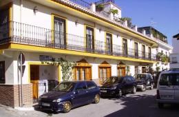 Parking right outside Hostal San Juan