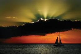 Dramatic Sunset by the Manila Bay