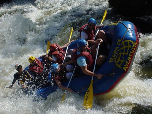 River rafting in Brazil