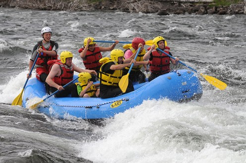 Rafting in Sweden