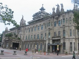 The Main Building of the University of Santo Tomas (UST) as it now stands in Espana Avenue, Manila