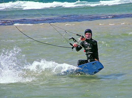 Kitesurfing.     Photo by: Wolf359