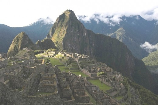 Machu Picchu at the evening