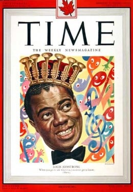 The first jazz musician on the cover of Time Magazine