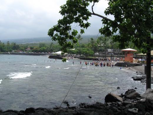 Kahaluu Beach Park in Kona, Hawaii