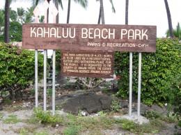 Kahaluu Beach Park on Big Island of Hawaii