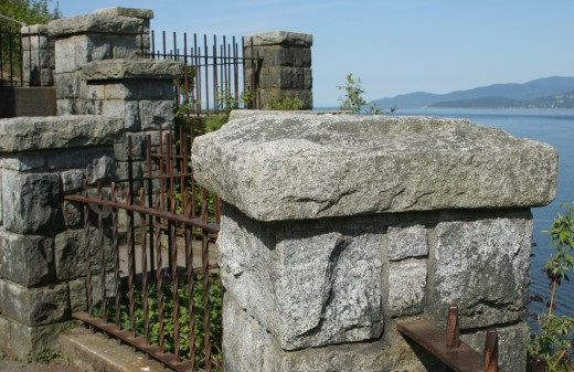 stone and iron fence