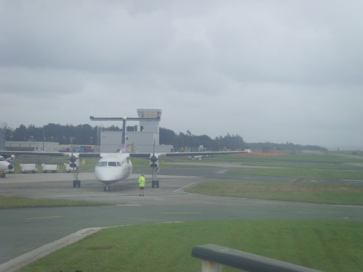 Flights to Newquay Airport, Cornwall: Newquay Airport.