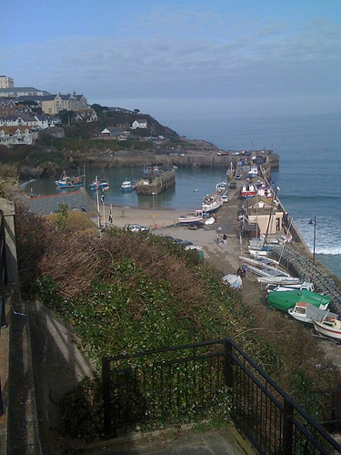 Newquay Harbour, taken from South Quay Steps.   Photo by: Cowley_Mail