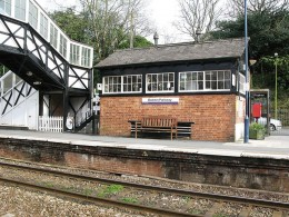 Bodmin Parkway Railway Station, Cornwall: Signal Box Cafe.