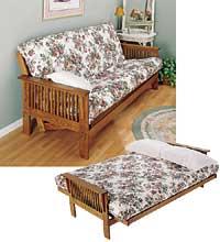Wood Futon and Cushion