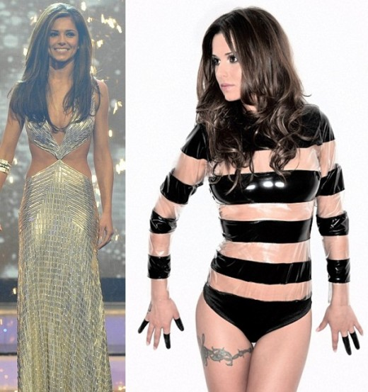 Cheryl Cole was criticised for how skinny she was last year in the X Factor finals, but is now looking a bit curvier