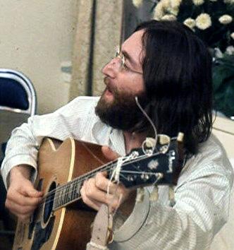 John Lennon Photo  Photo by Roy Kerwood.