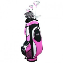 Golf Girl FWS2 PINK Lady Hybrid Club Set & Cart BAG