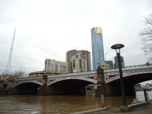View of Bridge on Yaara River near Federation Square
