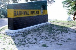 Garhwal Rifles Entry Area in Lansdowne